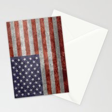 Flag of the United States of America in Retro Grunge Stationery Cards