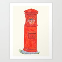 Red Mailbox Art Print