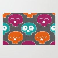 skulls Area & Throw Rugs featuring Skulls by Michael Goodson