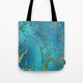 Electric Blue Marble Tote Bag