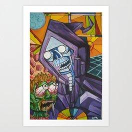 reaper cube Art Print