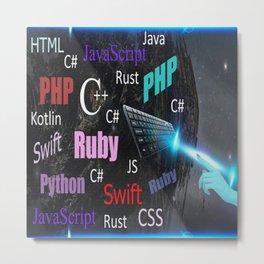 Programming languages Metal Print