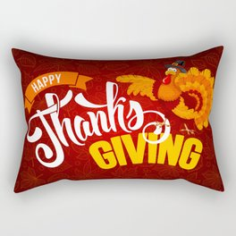 Happy Thanksgiving Rectangular Pillow