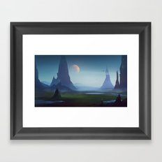 Border of domain Framed Art Print