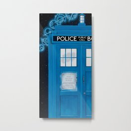 Magic Blue Box Metal Print