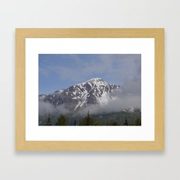 Seward Mountain Fog - Alaska Framed Art Print