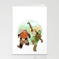 lotr Stationery Cards featuring LotR- Legolas & Gimli by Firehouselight