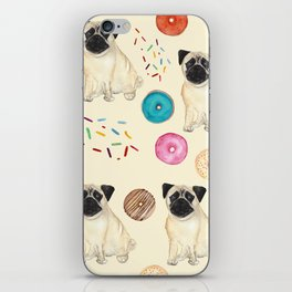 Pugs and donuts sweet sprinkles iPhone Skin