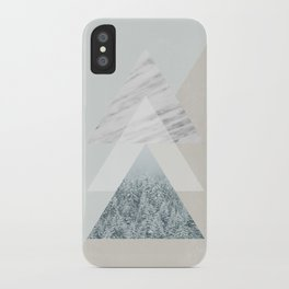 Snow into the forest iPhone Case