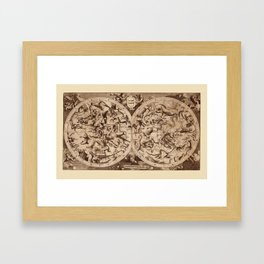 Constellation Map 1734 Framed Art Print