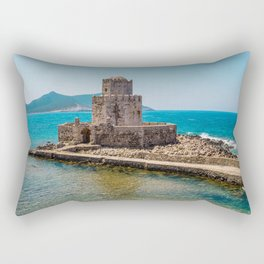 The Methoni Venetian Fortress in the Peloponnese, Messenia, Greece Rectangular Pillow