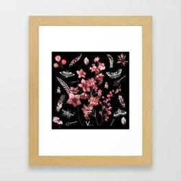 Dark Red Beetles Framed Art Print