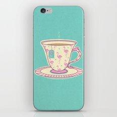 Flamingo tea iPhone & iPod Skin