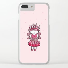 Pink Angel Clear iPhone Case
