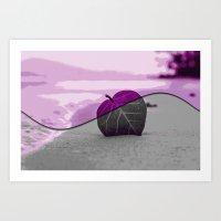 leaf Art Prints featuring Leaf by Aloke Design