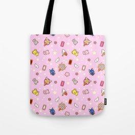 cardcaptor sakura pattern pink Tote Bag