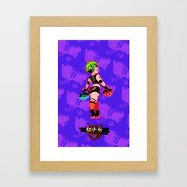 Kuro Neko Roller Derby Alex Framed Art Print