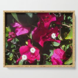 Tropical Mood Floral Print Serving Tray
