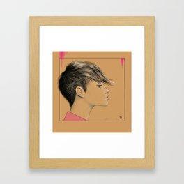 Left in Pink Framed Art Print