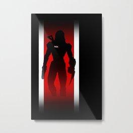 Commander Shepard of the Normandy Metal Print