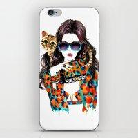 kenzo iPhone & iPod Skins featuring Kenzo Girl by Sunny Gu