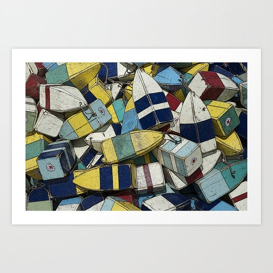 Buoys Art Print