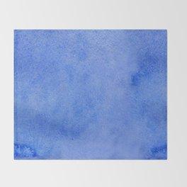 Azure watercolor Throw Blanket
