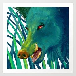 Hog's Head Art Print