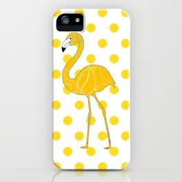 Yellow Flamingo  - Bird iPhone Case