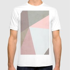 Delicate Geometry Mens Fitted Tee LARGE White
