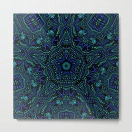 Blue Star Kaleidoscope Metal Print