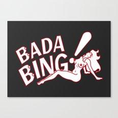 Neon Bada Bing! Canvas Print