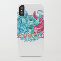 pisces iPhone & iPod Cases featuring Pisces by StudioBlueRoom