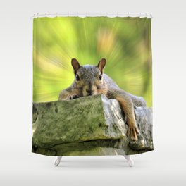 Relaxed Squirrel Shower Curtain