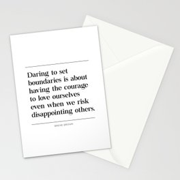 Courage To Love Ourselves Brene Brown Stationery Cards