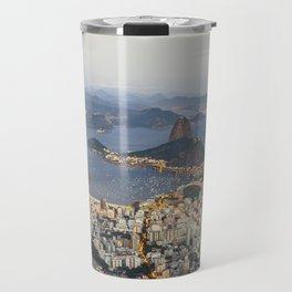 Beautiful Rio de Janeiro at sunset Travel Mug