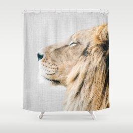 Lion Portrait - Colorful Shower Curtain