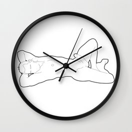 Skinflint Reclined Nude Wall Clock