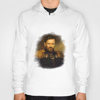 replaceface Hoodies featuring Ricky Gervais - replaceface by replaceface