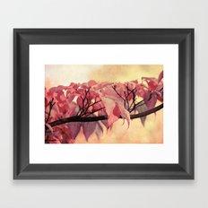 Red Autumn Day Framed Art Print