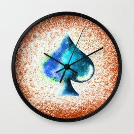 Rusty Spade Wall Clock