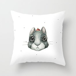 Mr Squik Throw Pillow