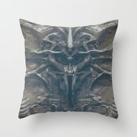 prometheus Throw Pillows featuring Prometheus - A film poster by Dukesman