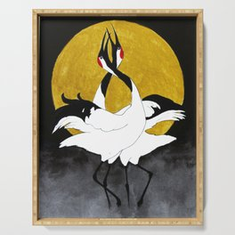 Red-crowned crane Serving Tray