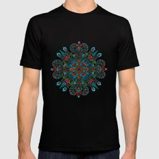 The middle of the Earth mandala Black LARGE Mens Fitted Tee