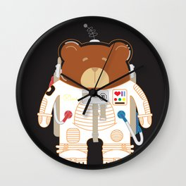 Oso Cosmonauta (Cosmonaute Bear) Wall Clock