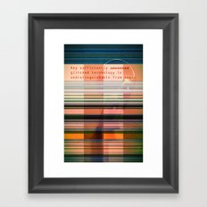 Glitch Magic Framed Art Print