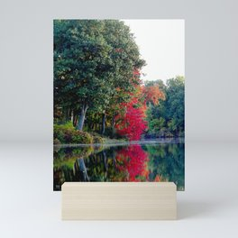 First reds of autumn Mini Art Print