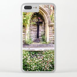 Usk Castle St George Chapel 2 Clear iPhone Case