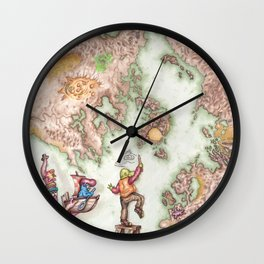Map of Mutha Oith Wall Clock